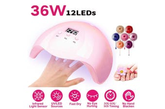 36W Nail Phototherapy Machine UV LED Professional Polish Curing Fast Dryer