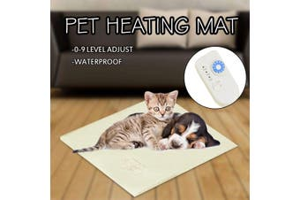 35W Pet Electric Blanket Waterproof Thermostat Heater Mat Pet Dogs Cat Puppies Heating Pad Kittens Dog Winter Heating Bed(white,60x40cm)