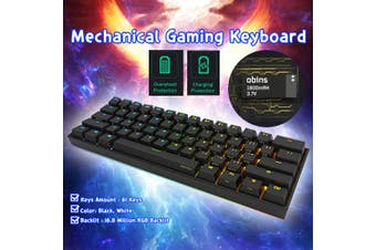 Anne Pro 2 Kailh BOX Switch 4.0 RGB Mechanical Gaming Keyboard Bluetooth -Red /Brown /White Switch(black,White Switch)