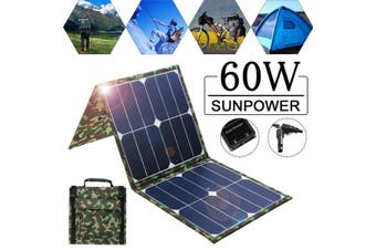 60W 5V Dual USB Waterproof Solar Panel Flexible Charger for Mobile Phone Computer Car Universal