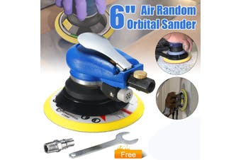 "【Free Shipping + Flash Deal】6"" Air Random Orbital Palm Sander Auto Body Orbit DA Sanding Pad Vacuum Polisher(6inch)"