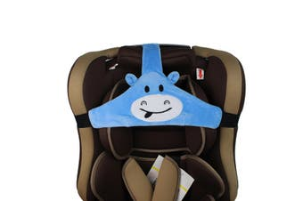 Baby Kids Head Neck Support Car Seat Belt Safety Headrest Pillow Pad Protector(blue)