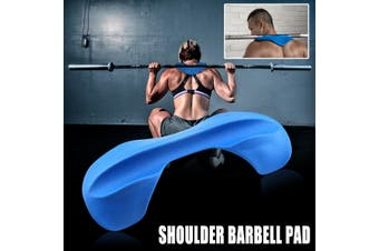 Squat Barbell Weightlift Neck Shoulder Support Comfort Protection Soft Pad Cover(blue)