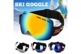 Frameless Snowboard Snowmobile Profession Ski Goggles Winter Anti Fog UV (red)