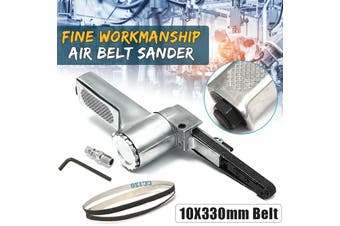 3.8'' Air Belt Sander + Sanding Belts For Air Compressor Sanding Pneumatic hand Tool(Air Belt Sander)