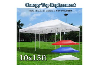 10x15ft Pop Up Canopy Top Replacement Tent Patio Gazebo Canopy 420D Sun Shade(red)