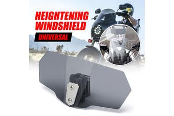 Universal Adjustable Clip On Windshield Screen Extension Spoiler Wind Deflector(Color:Smoke)(smoke)