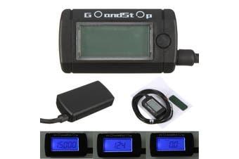 Voltmeter Tachometer Hour Meter Max RPM LCD Digital Display ATV QUAD Pit Bike