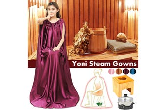 Steam Gowns Detox Functional Steam Tool Steam Sauna Clothes Suit Yoni Steaming Dress(purple,03 Purple)