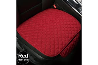 Flax Car Seat Cover Protector Front Seat Back Cushion Pad Mat For Car Truck Suv -- Backrest - red
