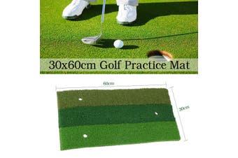 60x30cm Golf Mat Rubber Outdoor Indoor Eco-friendly Green Golf Hitting Mat Practice Equipment(red,XL)