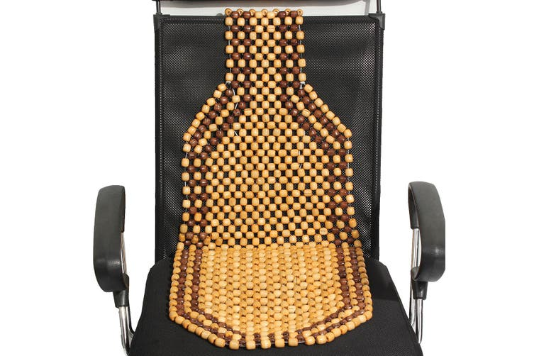 WOODEN BEAD/BEADED CAR/TAXI/VAN FRONT SEAT COVER/CUSHION(brown)