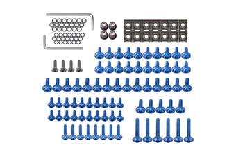 137pcs Motorcycle Aluminum Fairing Bolt Kit Fastener Clip Screw Fits Most Of Sportbikes(blue)