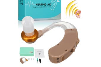 F-168 Hearing Aid Ear Aid Adjustable Tone Amplifier Behind The Ear Acousticon(F-168 Hearing Aid)