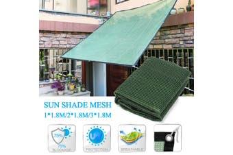 3*1.8M Sunproof Sun Shade Sail Awning Rectangle Mesh Net Home Garden Canopy 3*1.8m(3x1.8m)