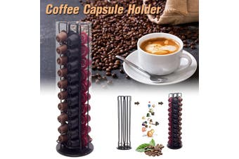 40 pcs Coffee Pods Capsules Holder Chrome Coffee Station Stand Display Rack Coffee Cap(40Cups Type 1)