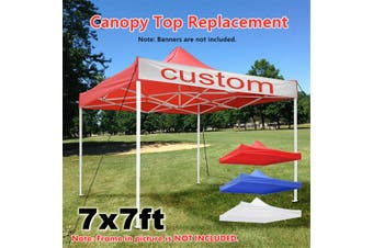 2x2m Pop Up Canopy Top Replacement Tent Patio Gazebo Canopy 420D Sun Shade(blue)