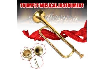 Child Kids Golden Trumpet Horn Musical Instrument Military School Beginner Gift