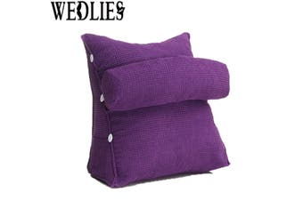 Sofa Bed Office Lounger Cushion Adjustable Waist Neck Support Back Wedge Pillow(purple)
