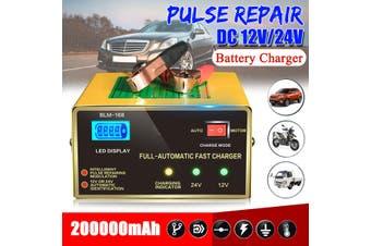 12V/24V Auto Car Pulse Repair LCD Lead Acid Intelligent Tool -EU Plug