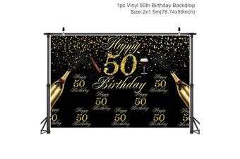 30/40/50th Birthday Photo Backdrop Gold Dots Sequin Photography Background Adult Party Photo Decor Birthday Party Banner(C)