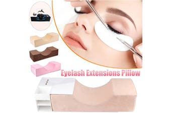 Professional Lash Grafted Eyelash Extension Pillow Cushion Support for Salon Home(brown)