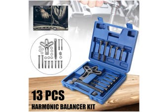 13Pcs Steering Wheel Removal Harmonic Balancer Gear Pulley Puller Tool Set