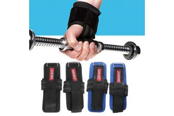 Fitness Gloves Weight Lifting Grip Gym Workout Power Training Wrist Wrap Strap(blue,Type A)