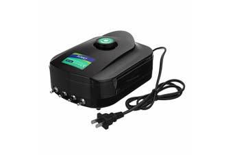 2/4 Holes 8W Adjustable Air Output Aquarium Fish Tank Oxygen Pump Low Noise Air Compressor Pump Aerator SB948(lightgreen,4 holes 8W)