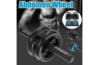【Free Non-slip Knee Mat】(BLK/BLUE) Portable AB Abdominal Roller Wheel Abdominal Muscle Core Workout Waist Core Training Back Chest Arm Shoulder Fitness For Home Exercise Gym Equipment (black,1 x Ab Wheel)