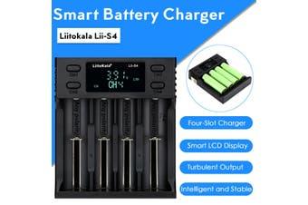 LiitoKala LII-S4 LCD Smart Battery Charger 4 Slots for 18650 26650 18350 NiMH AA