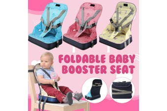 Kids Baby High Chair Dining Feeding Chair Booster Seat Foldable Travel Smart Mom Items(blue)