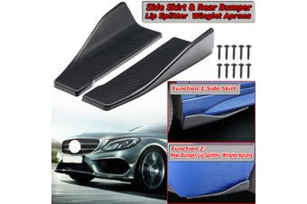【Free Shipping + Flash Deal】2x Universal 35cm Sto?stange Lippe Spoiler Splitter Diffusor Carbon Fiber Look(carbonfiberblack,35 cm)