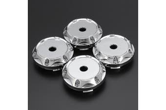4Pcs a set 64mm Universal ABS Silver Car Wheel Center Hub Caps Covers Set No Logo TW