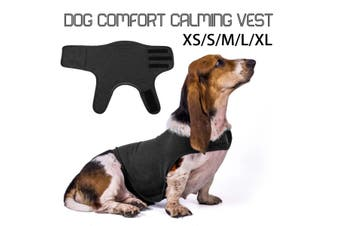 【Free Shipping + Flash Deal】Dog Comfort Calming Vest Thunder Anxiety Calm Harnesses Cotton Jacket Clothing - darkgrey
