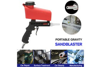 Ergonomic Portable Gra vity Pneumatic Sandblaster Sandblasting Machine Removing Spot Rust(Type A)