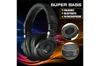 【Free Shipping + Flash Deal】USB Foldable Wireless Bluetooth 4.0 Super Bass Stereo Headphone Headset Handfree(black,Square)