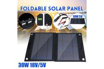 25W 18V5V polycrystalline dual output solar panel car charger