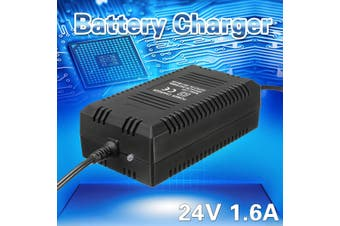 Battery Charger 24V 1.6 Amp 3-Prong Input 90-240V 50Hz Electric Bikes Scooters