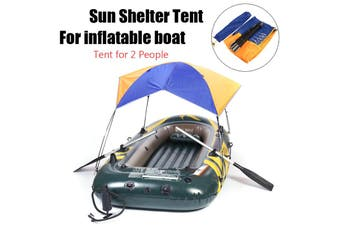 Sun Shelter Fishing Tent Inflatable boat Rubber Boat for 2 person Boat Awning (skyblueorange)