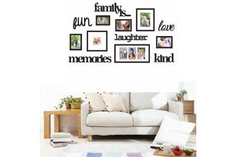 3D Family Tree Photo Picture Frame Acrylic Set Collage Wall Art Home Decorative 13 Piece Black Family Photo Frame Home Hanging Wall Decorative Collage Decor Set #113*67(Small)