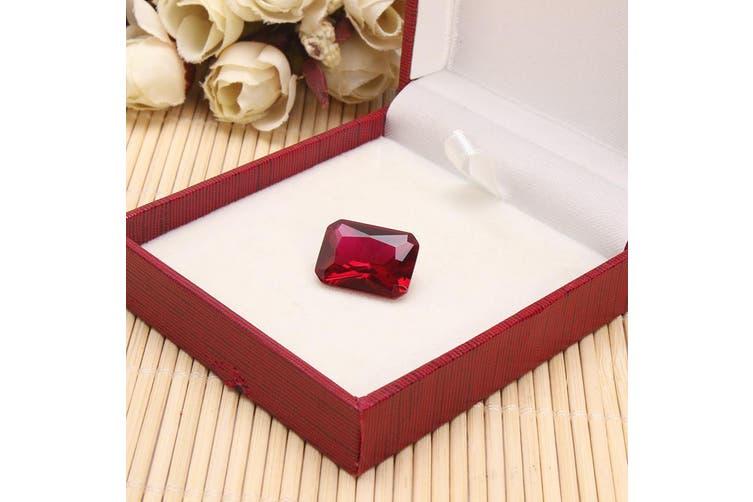 KiWarm 18.52CT Blood Red Ruby 13x18mm Emerald Cut AAAA+ Loose Gemstone Diamond DIY Jewelry Wedding Decor Decorative Crafts