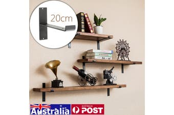 Loft Retro Industrial DIY Wall Shelves Support Single Square Iron Shelf Support (black,Only The Iron Shelf Support)