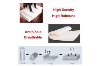 High Density Seat Foam Rubber Cushion Replacement Upholstery Firm Pad