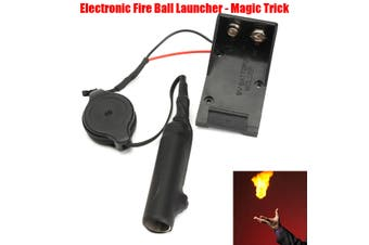 9V Electronic Fire Ball Launcher Magic Trick Props Accessories Stage Illusions (black,9V)