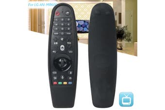 Black Shockproof Silicone Remote Control Cover Case for LG 3D Smart TV AN-MR600(black,2)