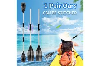 1 Pair 2Pcs/Set Aluminum Double-Ended Detachable Afloat Oars Paddles Boat Kayak Raft Canoe(silver,Type1)