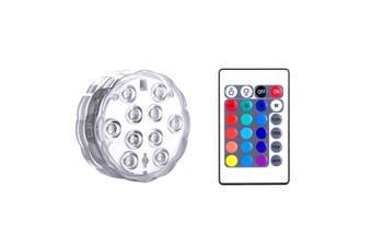 1PCS Swimming Pool Light RGB LED Bulb Remote Control Underwater Color Vase Decor(1pc)