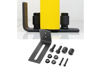 Adjustable Wall Mount Sliding Barn Door Hardware Bottom Floor Guide + Screws(5)
