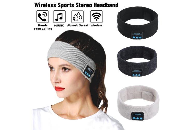 Wireless bluetooth Sports Headband Headphones Run Gym Sleep Music Headset Mic (white,Type1 Sports Headband)